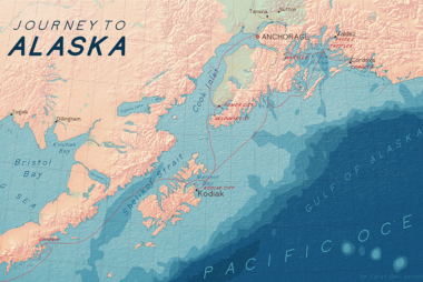 Alaska Map previewing BellTopo Sans
