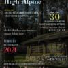 Mock magazine cover illustrating various glyphs of High Alpine font