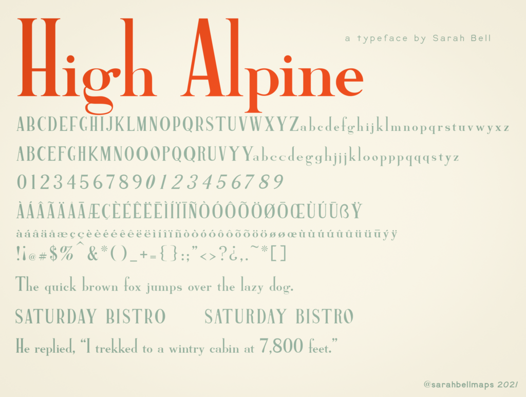 High Alpine Semibold full preview